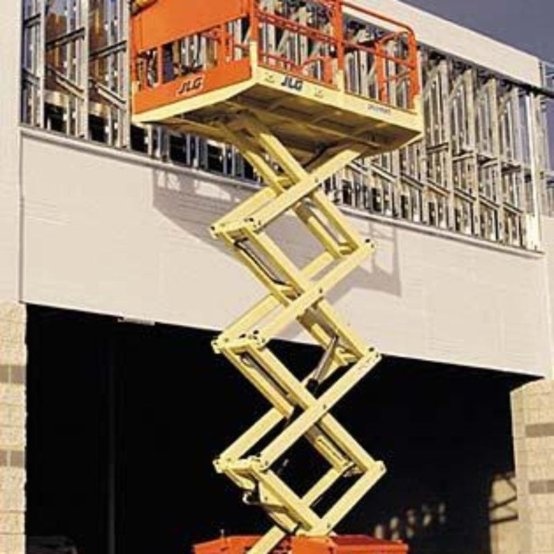 26 Foot Rough Terrain Scissor Lift Rental – JLG 260MRT -- Duke Rental Ithaca NY