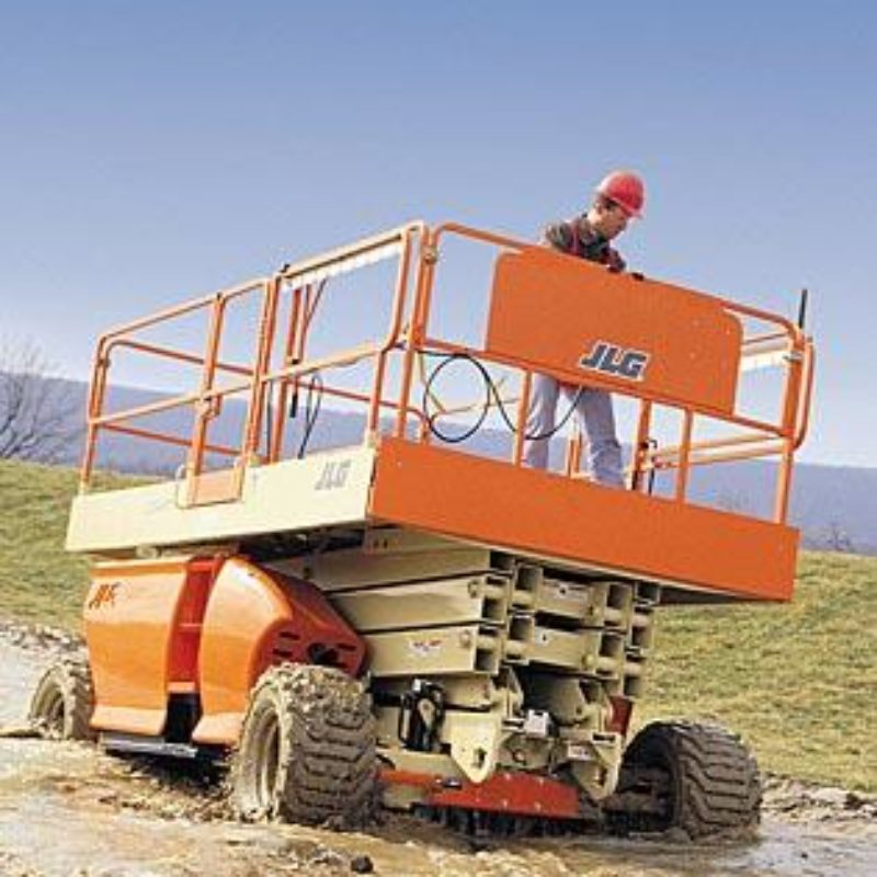 33 Foot Rough Terrain Scissor Lift Rental - JLG 3349RT