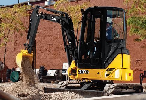 Compact Excavator Rental - John Deere 27D