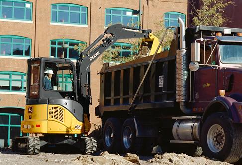 Compact Excavator Rental - John Deere 35D