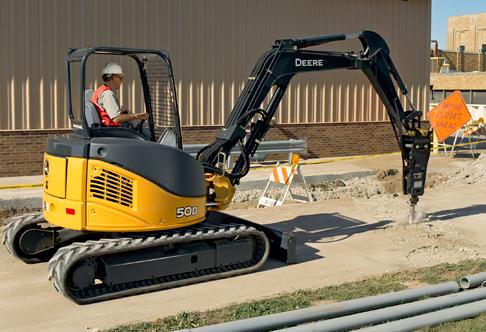 Compact Excavator Rental - John Deere 50D