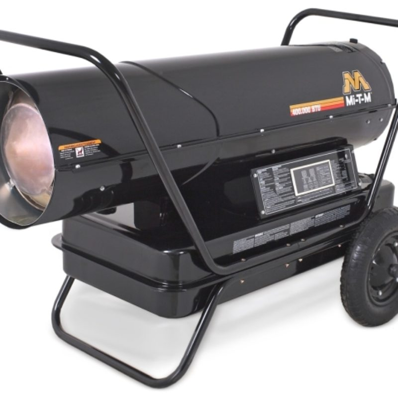 400,000 BTU Forced Air Heater Rental (Kerosene) - Mi-T-M - MH-0400-0M10