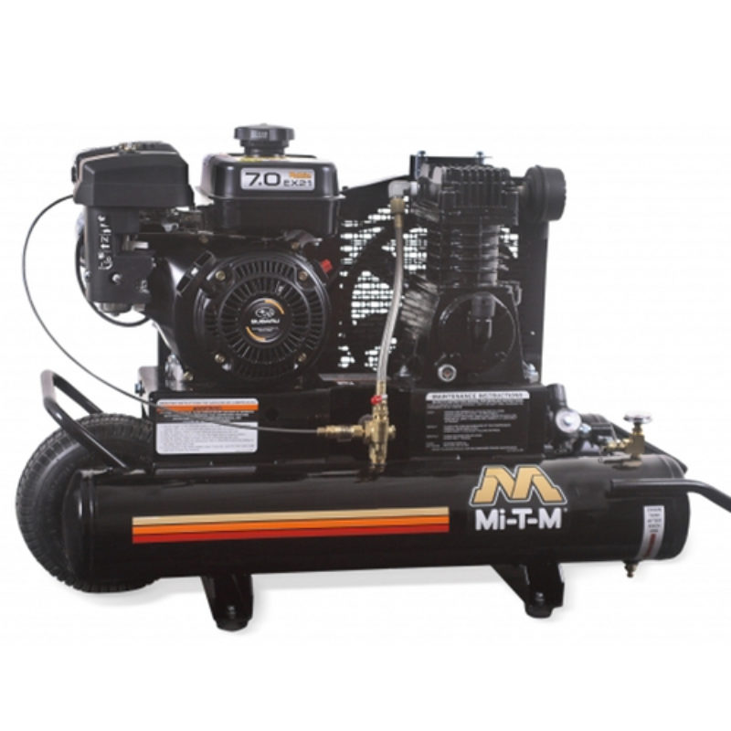 8 Gallon Portable (Gas) Air Compressor Rental - Mi-T-M - AM1-PK07-08M