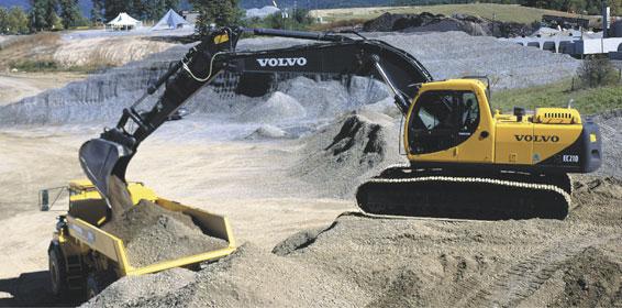 Excavator Rental - Full-Size - Volvo EC210