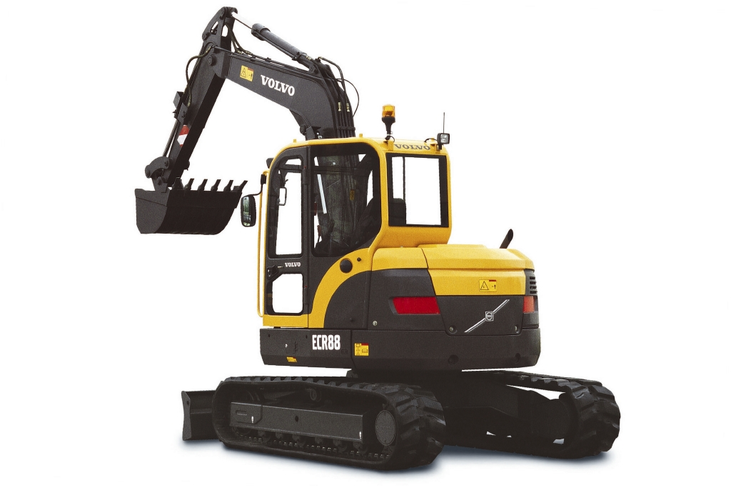 Compact Excavator Rental - Volvo ECR88 Short Tail Swing