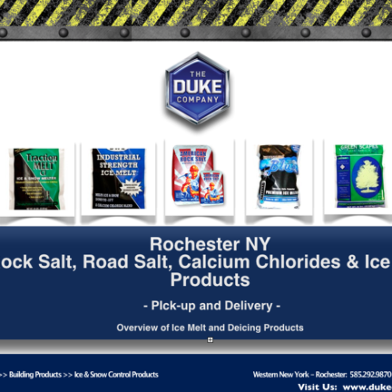 Rock Salt and Road Salt Distribution in Rochester