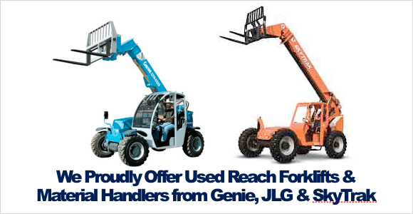 Buy Used Reach Forklifts Material Handlers Rochester NY Ithaca NY