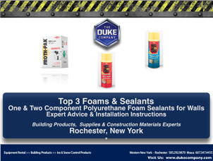 Top 3 DOW Foams and Sealant for Walls in Rochester NY