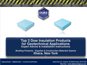 Top 2 Dow Insulation Products for Geotechnical Applications
