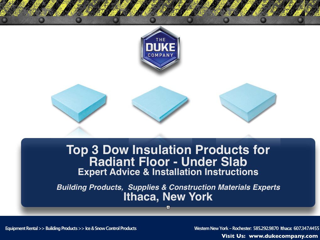 Top 3 Dow Insulation Products for Radiant Floor - Under Slab