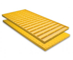 ADA Replaceable Wet Set Tile 2 Foot x 5 Foot Red - ADA Solutions