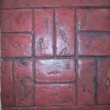 Concrete Stamping Tools - Basketweave Used Brick Thin-Line Pattern by Increte Systems SBBT S001
