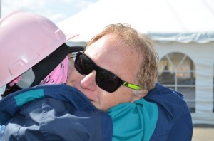 David Terry Duke Company President Giving Hug to Breast Cancer Coalition of Rochester