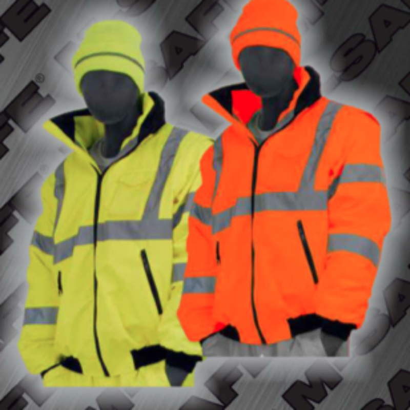 Safety Jackets - ANSI 107-2010 Class 3 2-in-1 Bomber Jacket