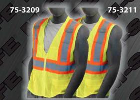 Safety Vests - ANSI Class 2 Vest - 2 Inch Velcro or Zipper Enclosure