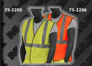Safety Vests - ANSI Class 2 Vest - Heavy Duty Break Away Style