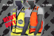 Safety Vests - ANSI Class 2 Vest - Heavy Duty Snap Front