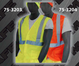 Safety Vests - ANSI Class 2 Vest - Velcro Front