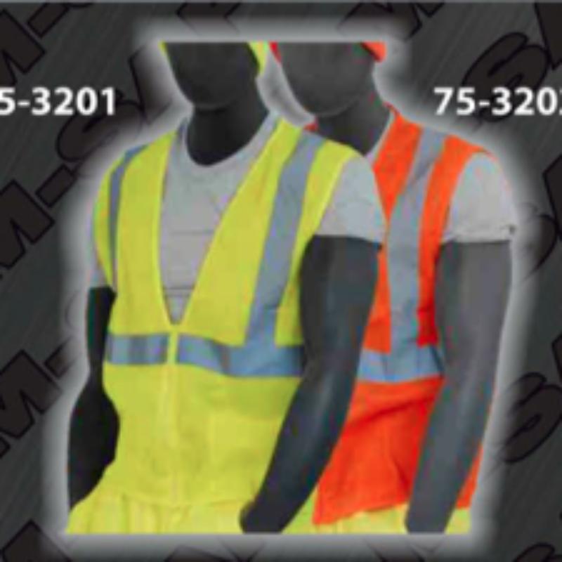 Safety Vests - ANSI Class 2 Vest - Zipper Front