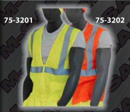 Safety Vests - ANSI Class 2 Vest - Zipper Front