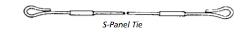 8 Inch Loop Tie HD SPT 54108 - Heavy Duty Steel Ply Ties