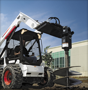 Picture of Augur Attachment Rental for Bobcat Compact Excavators
