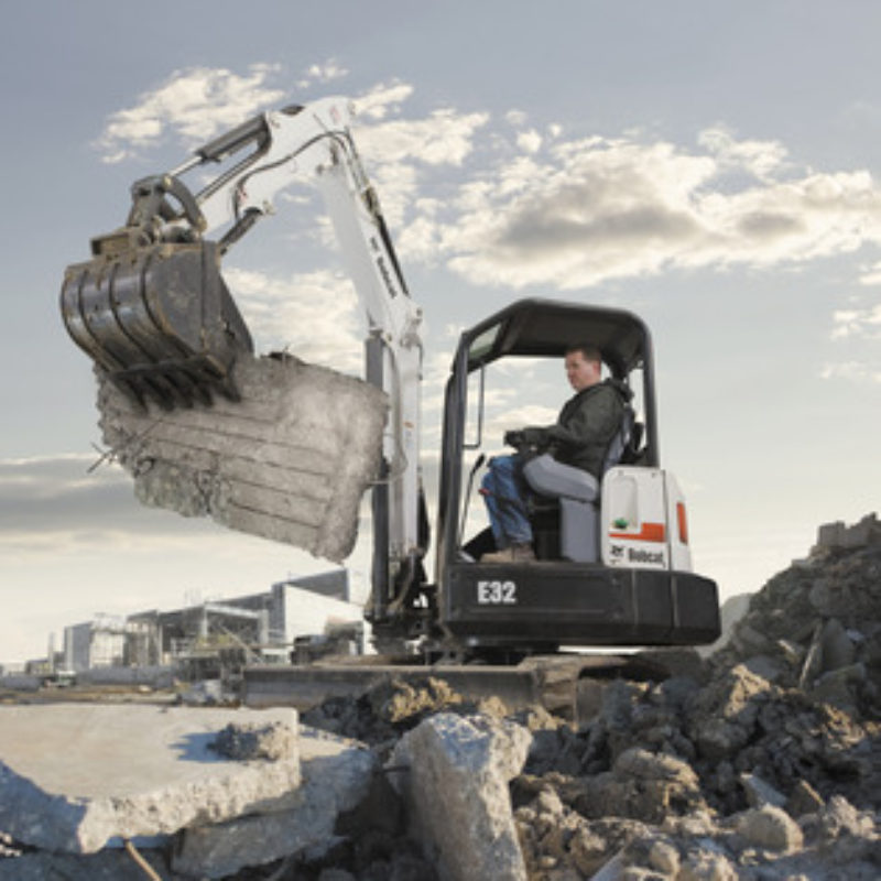 Mini Excavator Rental - Bobcat E32