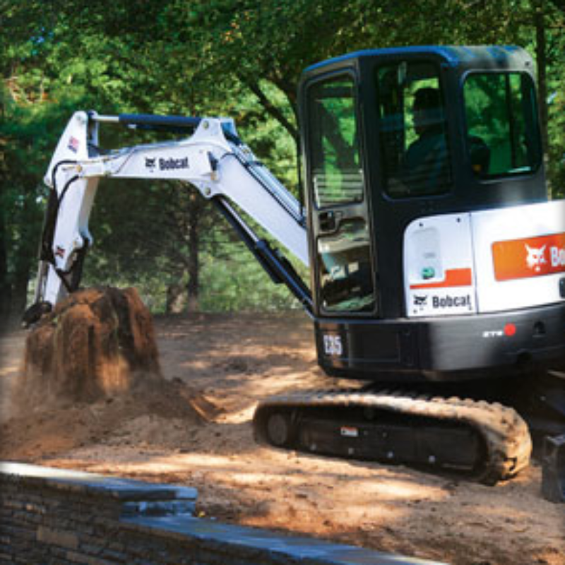 Bucket Attachment Rental for Bobcat Compact Excavators