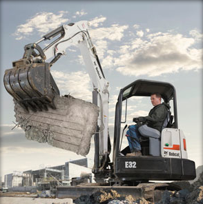 Picture of Clamp Attachment Rental for Bobcat Compact Excavators
