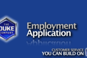 Picture of Duke Company Employment Application