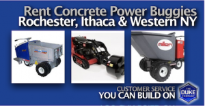 Picture of Concrete Buggy Rental Rates in Rochester, Ithaca and Buffalo
