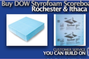 Picture of Buy DOW Styrofoam Scoreboard in Rochester NY and Ithaca NY