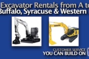 Picture of Excavator Rental in Buffalo and Syracuse NY