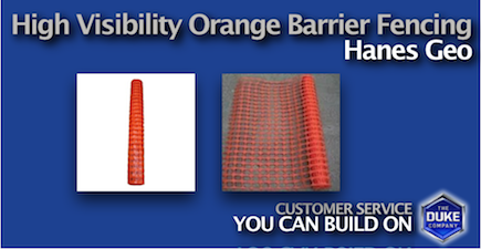Picture of High Visibility Orange Barrier Fence by Hanes Geo
