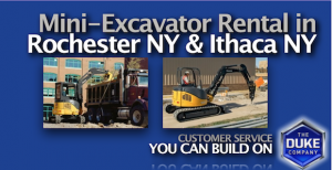Picture of Rent Powerful Mini Excavators in Rochester and Ithaca NY