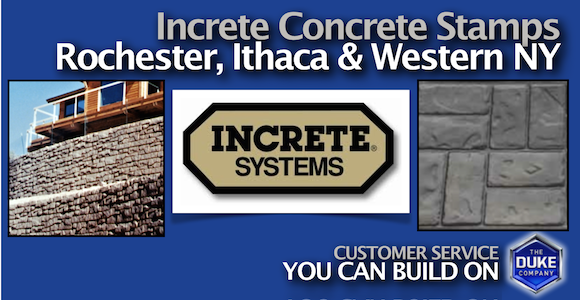 Increte Concrete Stamps in Rochester and Ithaca NY