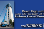 Picture of Reach High with the Genie S-120 Foot Boom Lift Rental