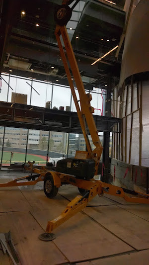 Towable Boom Lift Rental in Itahca NY at Cornell University