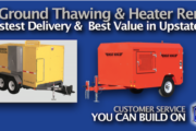 Ground Thawing and Ground Heater Rental in Upstate NY