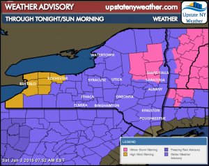 Upstate NY Snow Developing - Rock Salt Barn Open at 3 p.m.