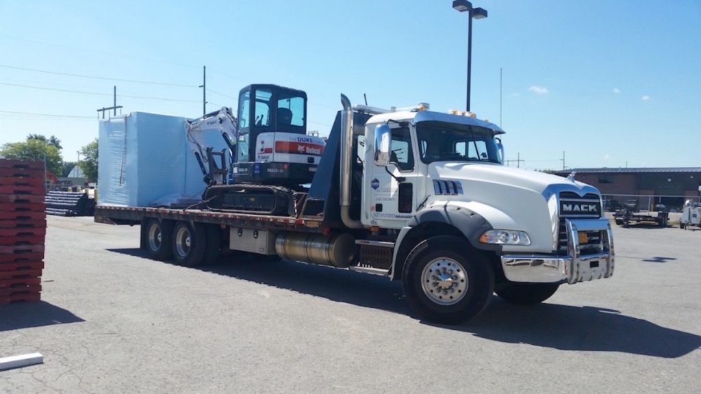 Duke Company Delivering Construction Equipment in Rochester, Ithaca and Upstate NY