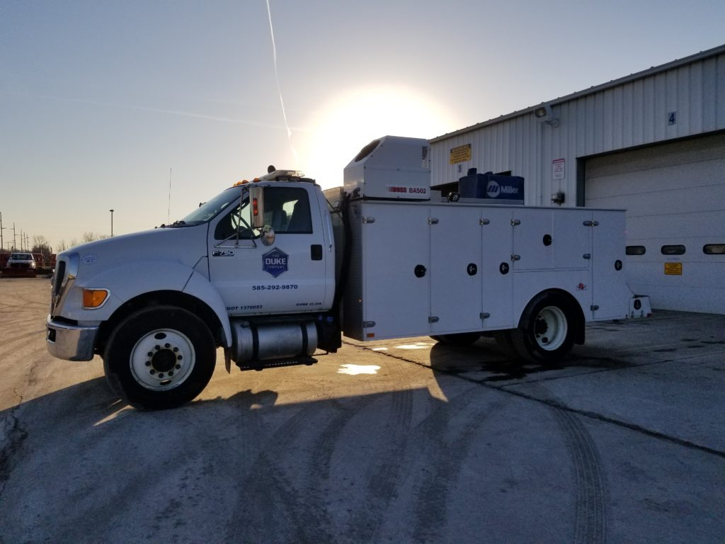 The Duke Company - Rental Equipment Service Truck for Fast Resonse in Upstate NY