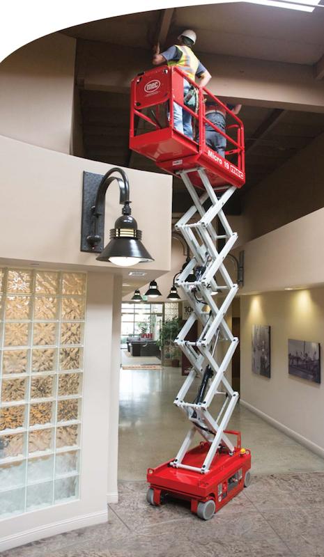 The Duke Company - Scissor Lift Rental MEC 19 Electric Scissor Lift