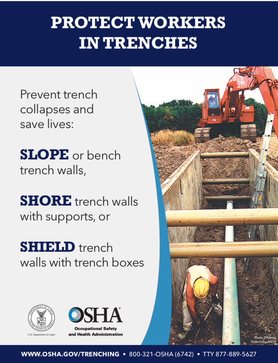 Trench Safety Information - OSHA | Trench Rentals | Equipment Rental