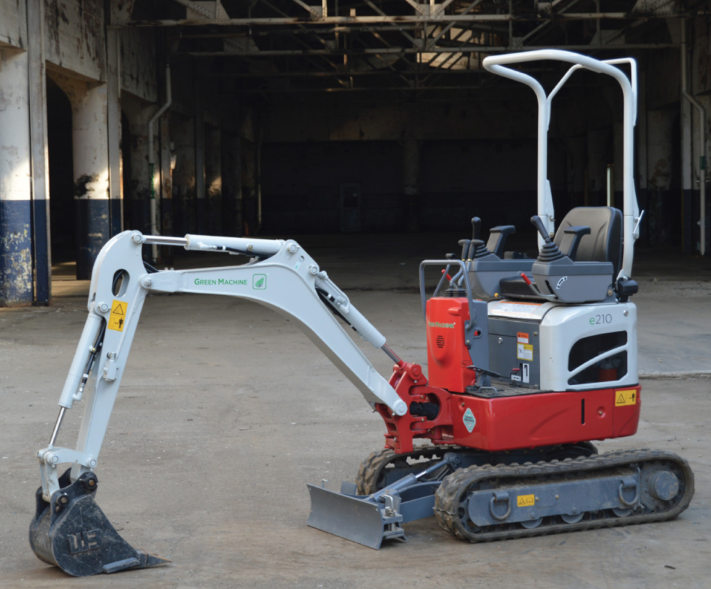 The Duke Company - Electric Mini Excavator Rental - Green Machine e210