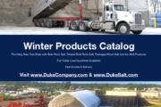 Duke Rentals and Duke Salt - Winter Products Catalog for Bulk Rock Salt, Bagged Ice Melts and Heater Rental