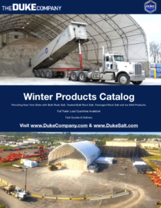 Duke Rentals and Duke Salt - Winter Products Catalog for Bulk Rock Salt, Bagged Ice Melts and Heater Rental