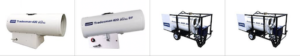 Duke Rentals - LB White Forced Air Rental Heaters - Models 400 Ultra, 400 Ultra DF, 500DF and 500 Oil - The Duke Company Equipment Rental - Rochester, Ithaca, Auburn and Dansville NY