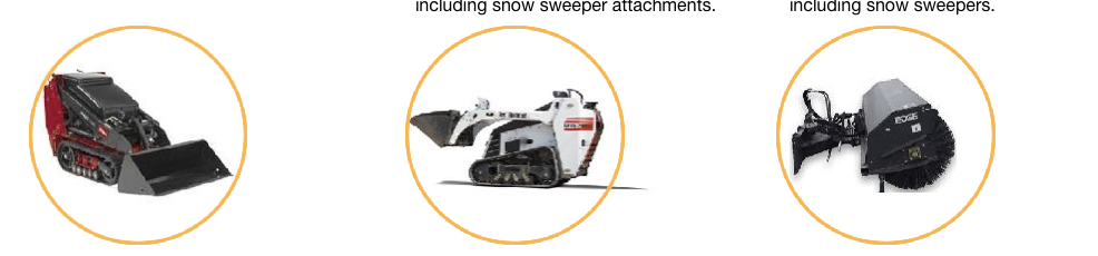 Duke Rentals - equpment rental for snow removal equipment including Walk Behind Toro Dingoes, Walk Behind Bobcats and Attachemnts Including Sweepers for Snow Removal