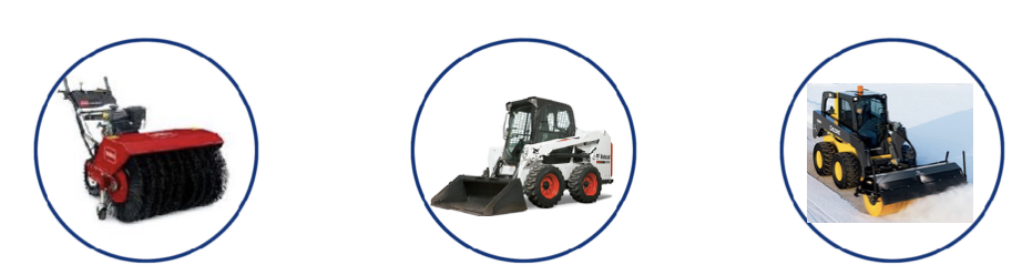 Duke Rentals in Rochester, Ithaca, Dansville and Auburn NY Rents Snow Removal Equipment Including Toro Dingoes, Toro Power Brooms, Bobcats and Skidsteers